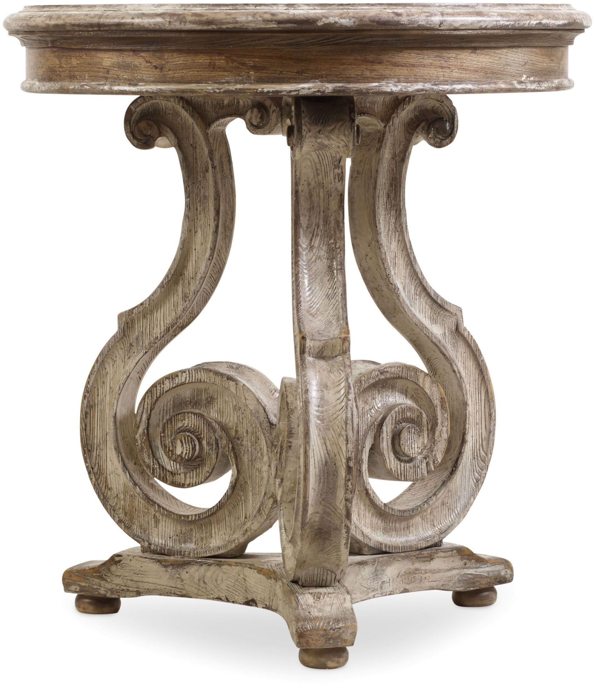 hooker chatelet gray scroll accent table collection metal sylvia small drop leaf coffee iron legs gold console marble top furniture wheels round covers for bedside tables ashley