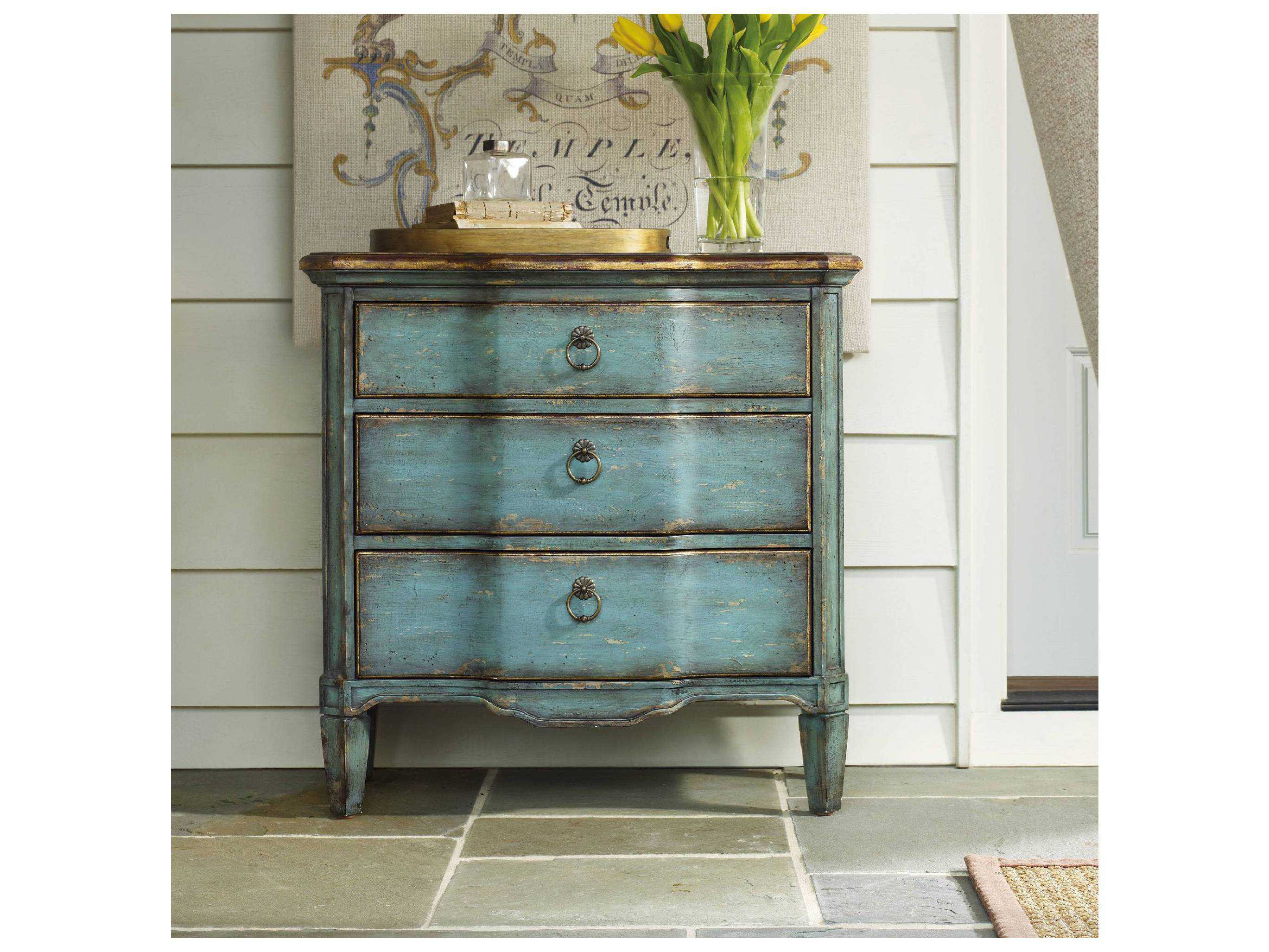 hooker furniture blue accent chest fretwork table turquoise dresser slim side ikea entryway dale tiffany glass wall art roland drum stool driftwood cloth white tray target small