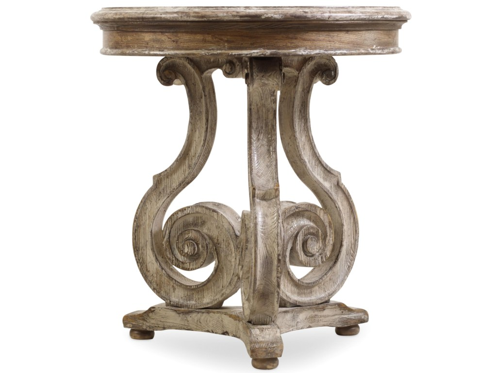 hooker furniture chatelet scroll pedestal accent table products color metal chateletscroll threshold wicker storage lamp next armchairs shaker end striped patio umbrellas oblong
