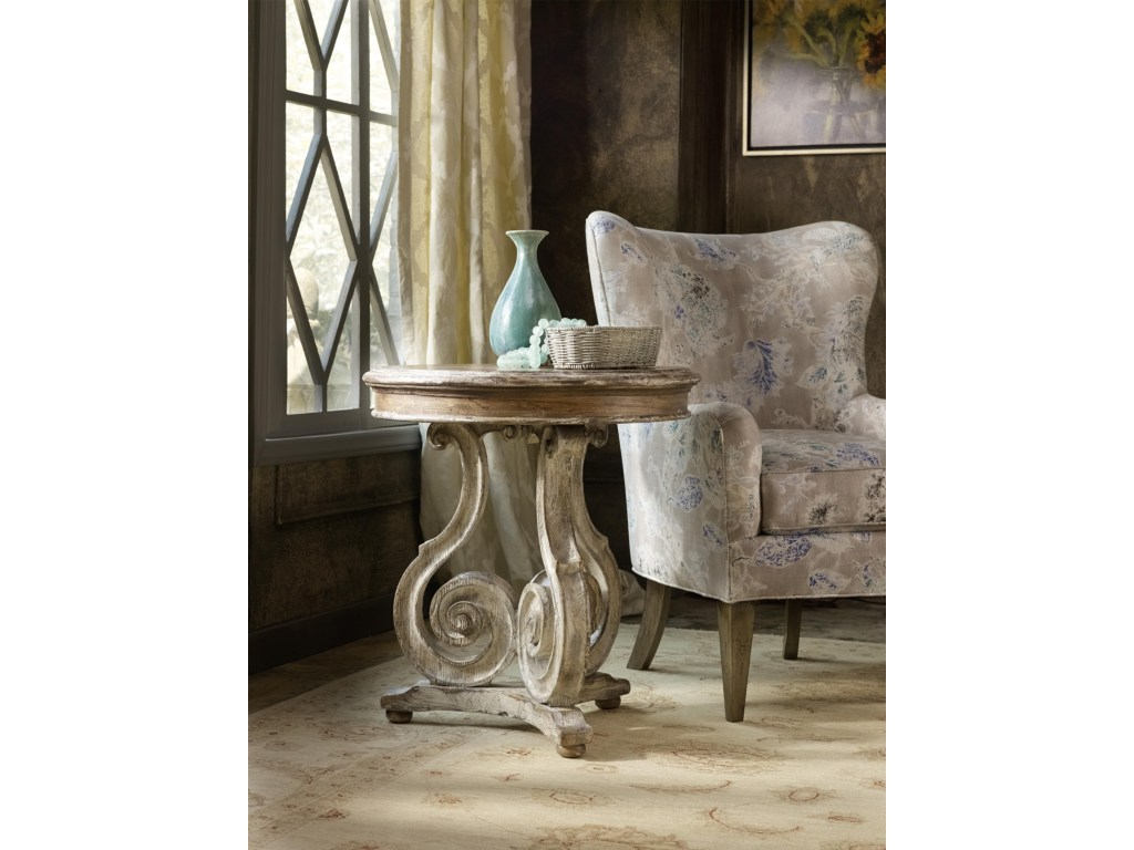 hooker furniture chatelet scroll pedestal accent table story lee products color threshold fretwork teal chateletscroll patio dining cover target console garden chairs round center