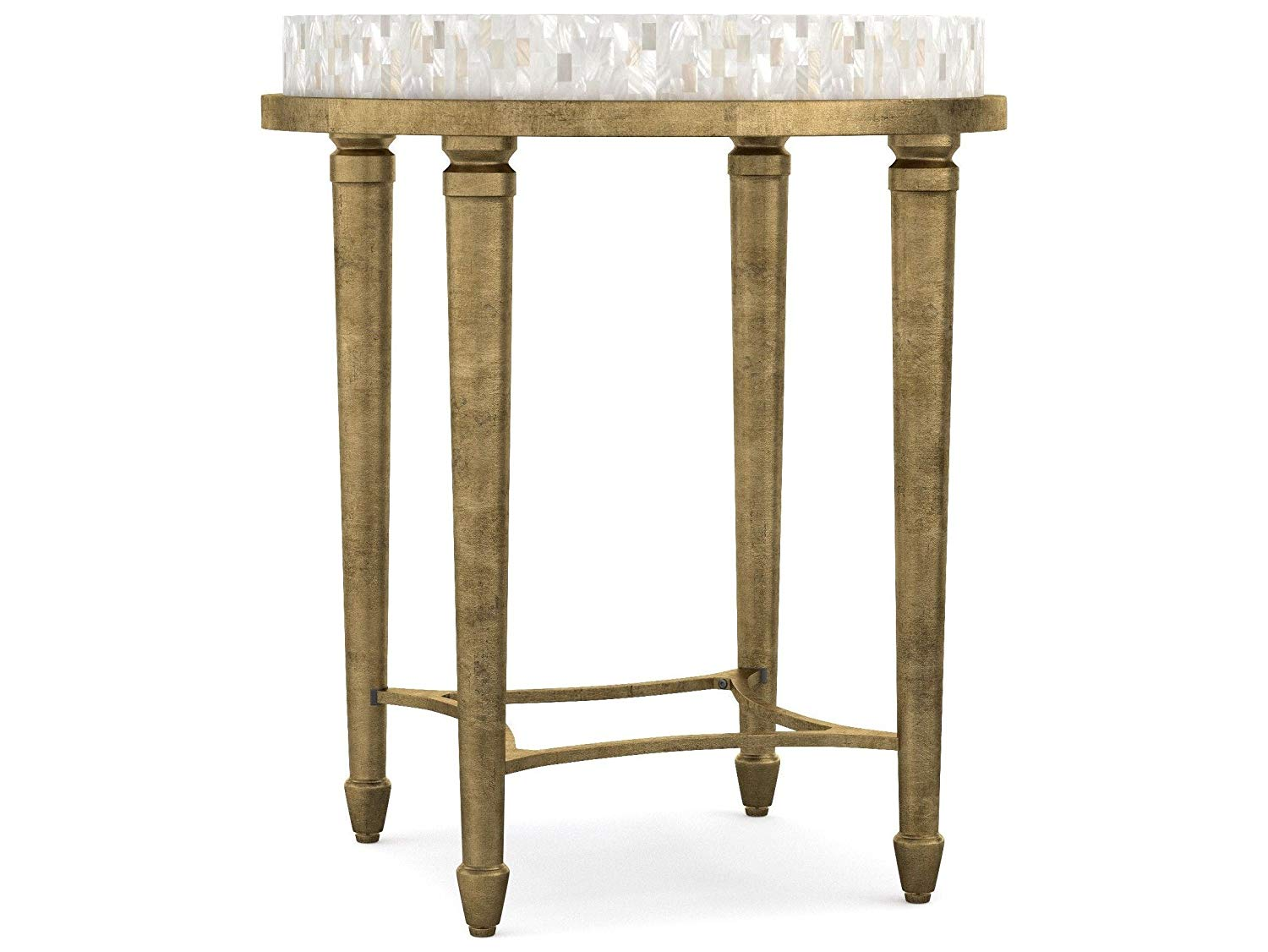 hooker furniture cynthia rowley aura round shell top tall pedestal accent table end kitchen dining clamp lamp antique side marble jcpenney window treatments laminate threshold bar