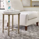 hooker furniture cynthia rowley aura round shell top tall pedestal accent table end kitchen dining howard elliott mirrors clamp lamp wood coffee grey nest tables wicker set 150x150