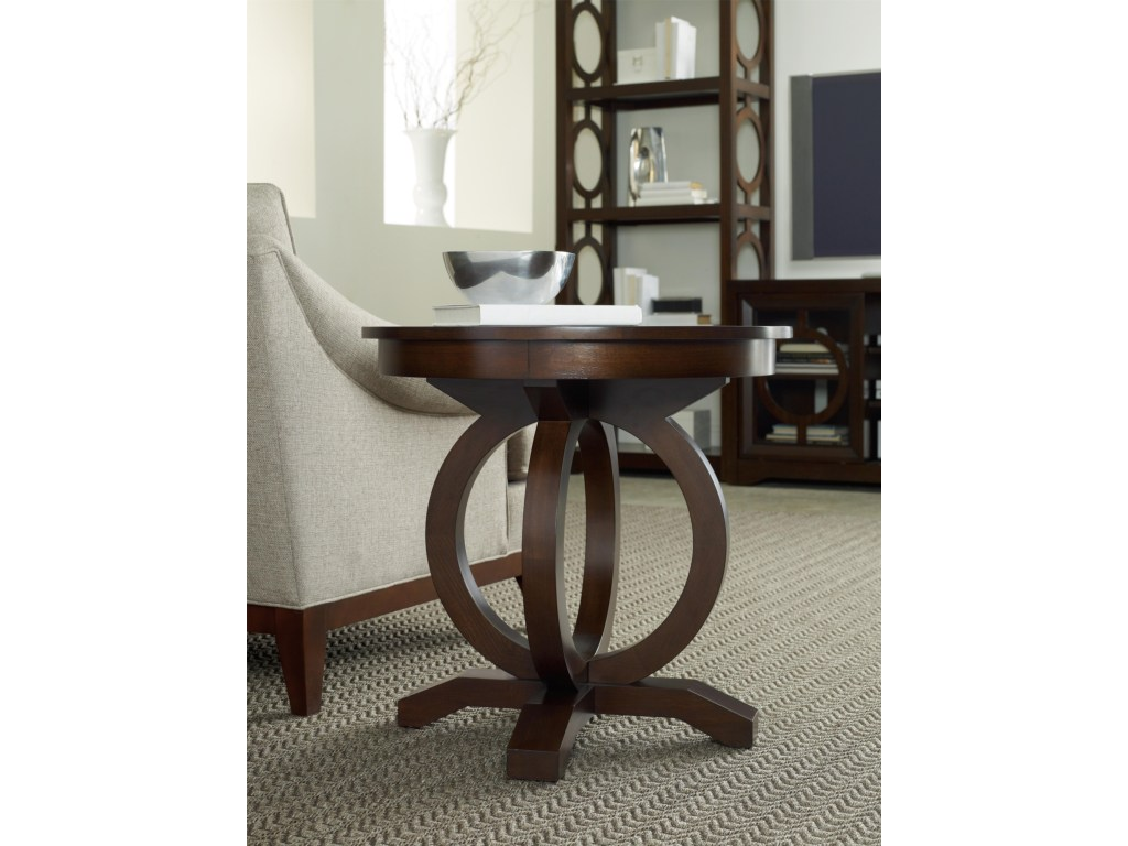hooker furniture kinsey contemporary round end table with products color fretwork accent threshold decoratively veneered top kinseykinsey drum unique plant stands swing arm lamp