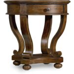 hooker furniture living room archivist round accent end table silo antique small tables schmitt company white nightstand bronze side cherry wood dining and chairs console corner 150x150