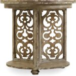 hooker furniture living room chatelet round accent table iron pewter side black oval coffee wood and metal broyhill with usb mudroom christmas tree storage box pottery barn bar 150x150