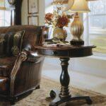 hooker furniture living room preston ridge pedestal accent table metal ikea shelving ideas vintage sofa designs trestle measurements white round bedside zinc behind bar square 150x150
