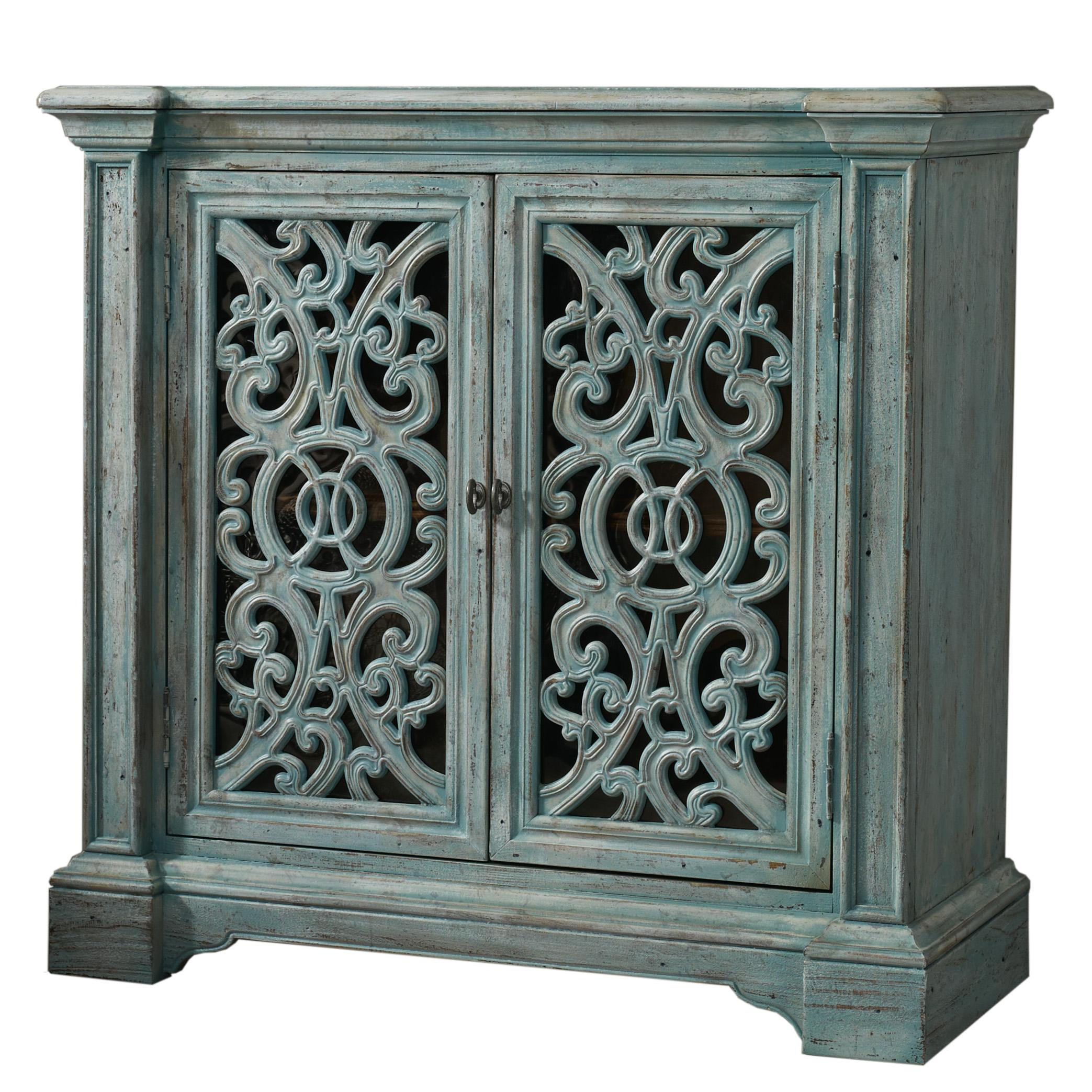 hooker furniture melange light blue artesia accent chest with products color fretwork table oriental style lamps modern outdoor tables silver sofa cylinder end entryway hobby
