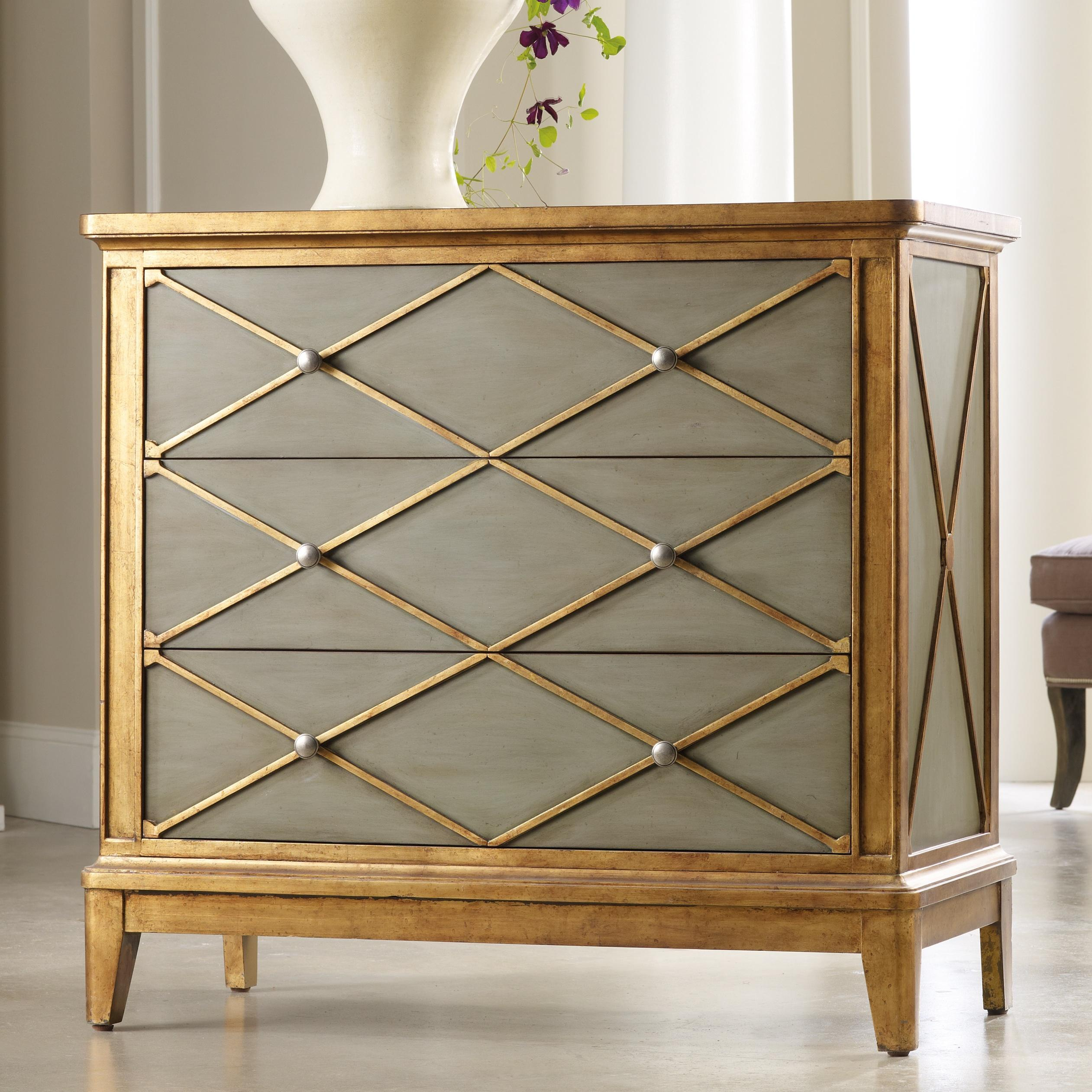 hooker furniture melange paxton gold trim chest with drawers products color accent table ahfa occasional cabinet locator home interior accessories target threshold side beverage