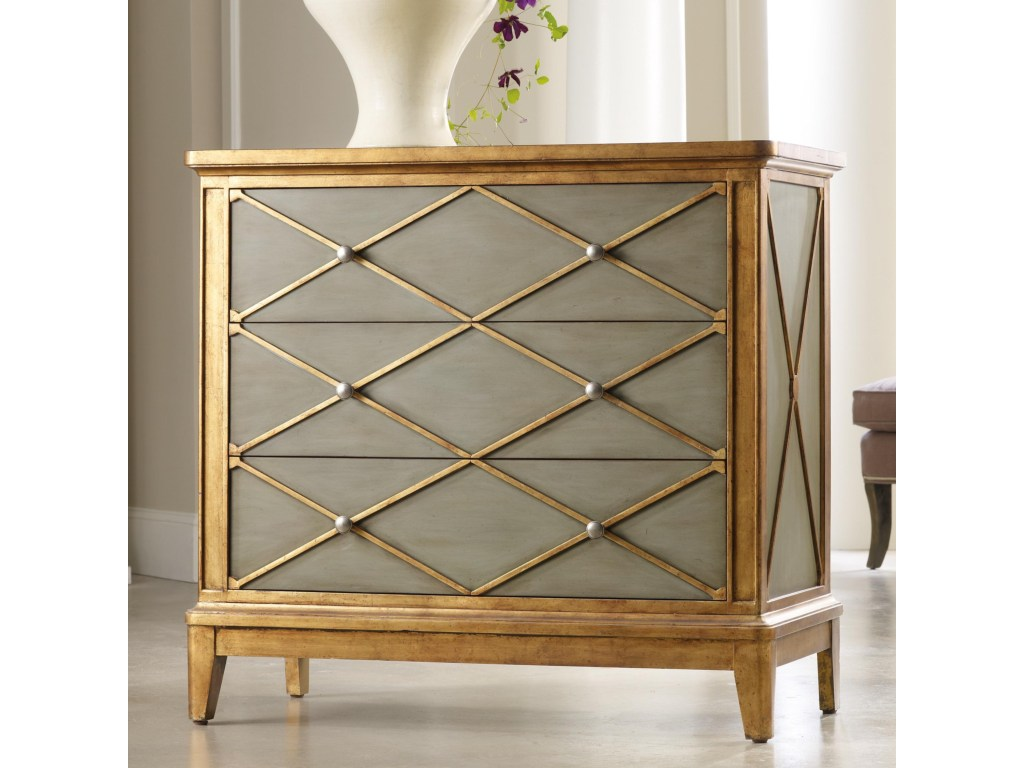 hooker furniture melange paxton gold trim chest with products color painted accent tables chests melangepaxton dining table clearance bent acrylic coffee garden bistro and chairs