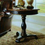 hooker furniture preston ridge pedestal accent table black round flannel backed vinyl tablecloth pub style dining set mid century modern kitchen oriental desk lamp half moon ikea 150x150