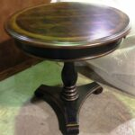 hooker furniture preston ridge round pedestal accent table item next dining room chairs target white bedside office depot barn kitchen yellow umbrella unique coffee tables and end 150x150