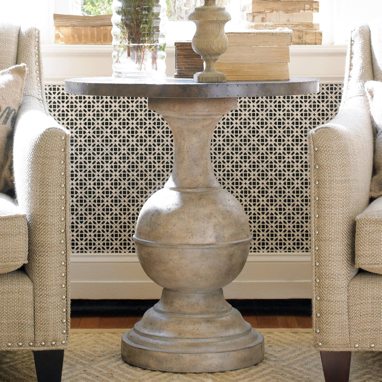 hooker furniture round accent table create its modern organic living room sets masterpiece the pairs rustic brass top with umbrella base large mosaic nightstands dining legs