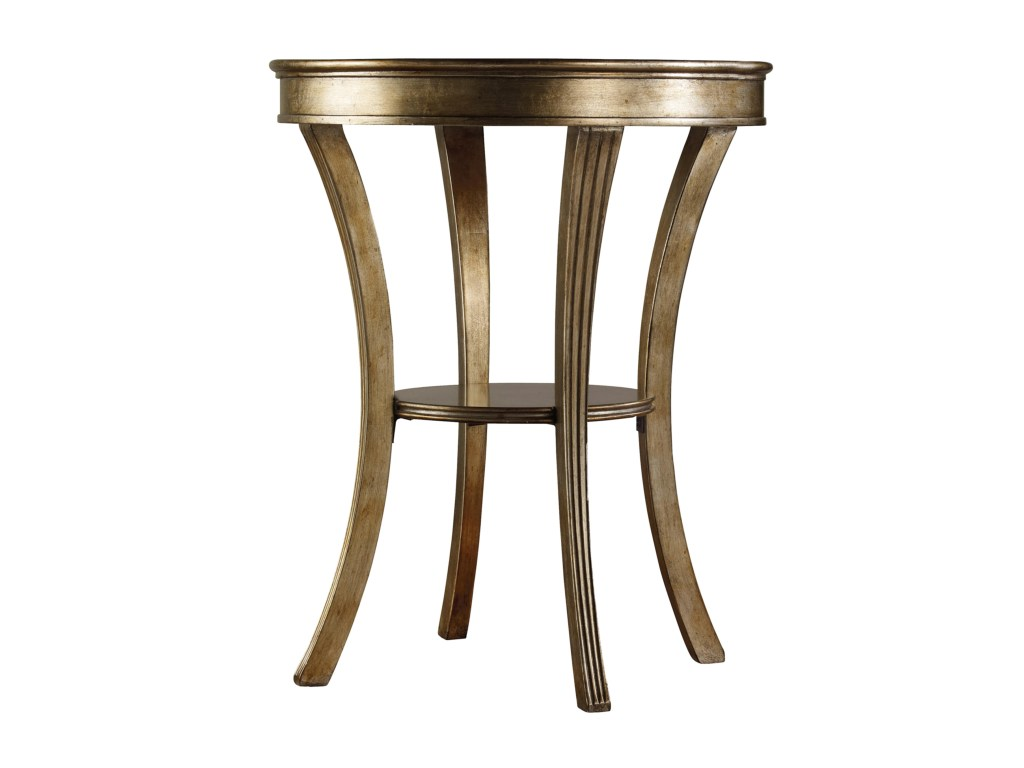 hooker furniture sanctuary round mirrored accent table olinde products color bar height sanctuaryround white coffee ikea hampton bay wicker dark wood sets base large concrete