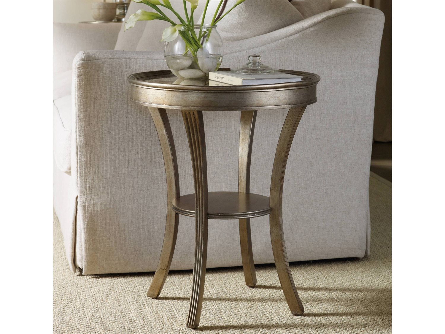 hooker furniture sanctuary wide round accent end table tables touch zoom garden cool nesting diy kitchen plans target black lamp console with drawers little white kids desk worlds