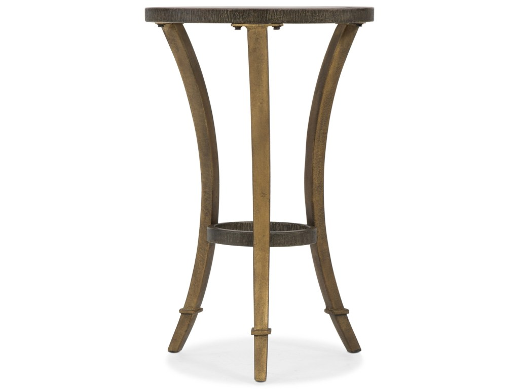 hooker furniture transitional round accent martini table products color mtl threshold metal with wood top glass nightstand dining plate mat oval brass and coffee drum stool side