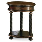 hooker furniture westcott black round accent table bellacor pedestal hover zoom single wine rack bar and pub tables blue mosaic garden style dining set small metal drum white 150x150
