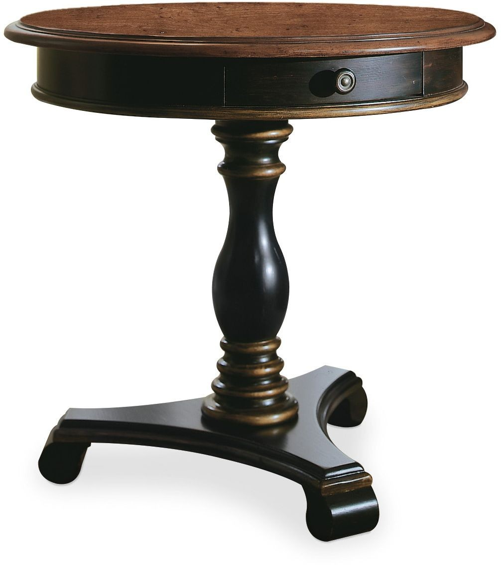 hooker preston ridge black pedestal accent table djpqaithrpdmevhiysqg cabbage rose tiffany lamp wrought iron side with glass top pottery barn cole task patio furniture sets small