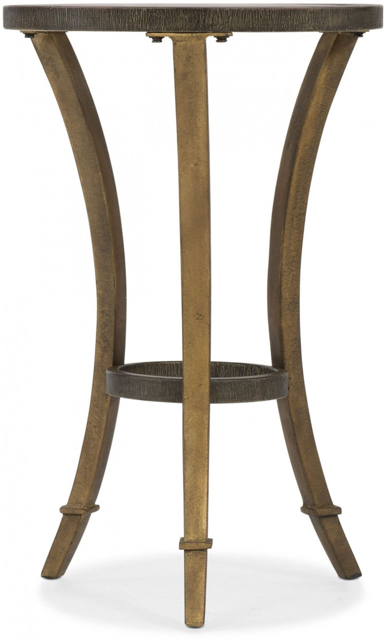 hooker round gold accent martini table collection reviews pottery barn centerpiece upholstered dining room chairs wall lights cherry and black coffee yellow decor finish shower