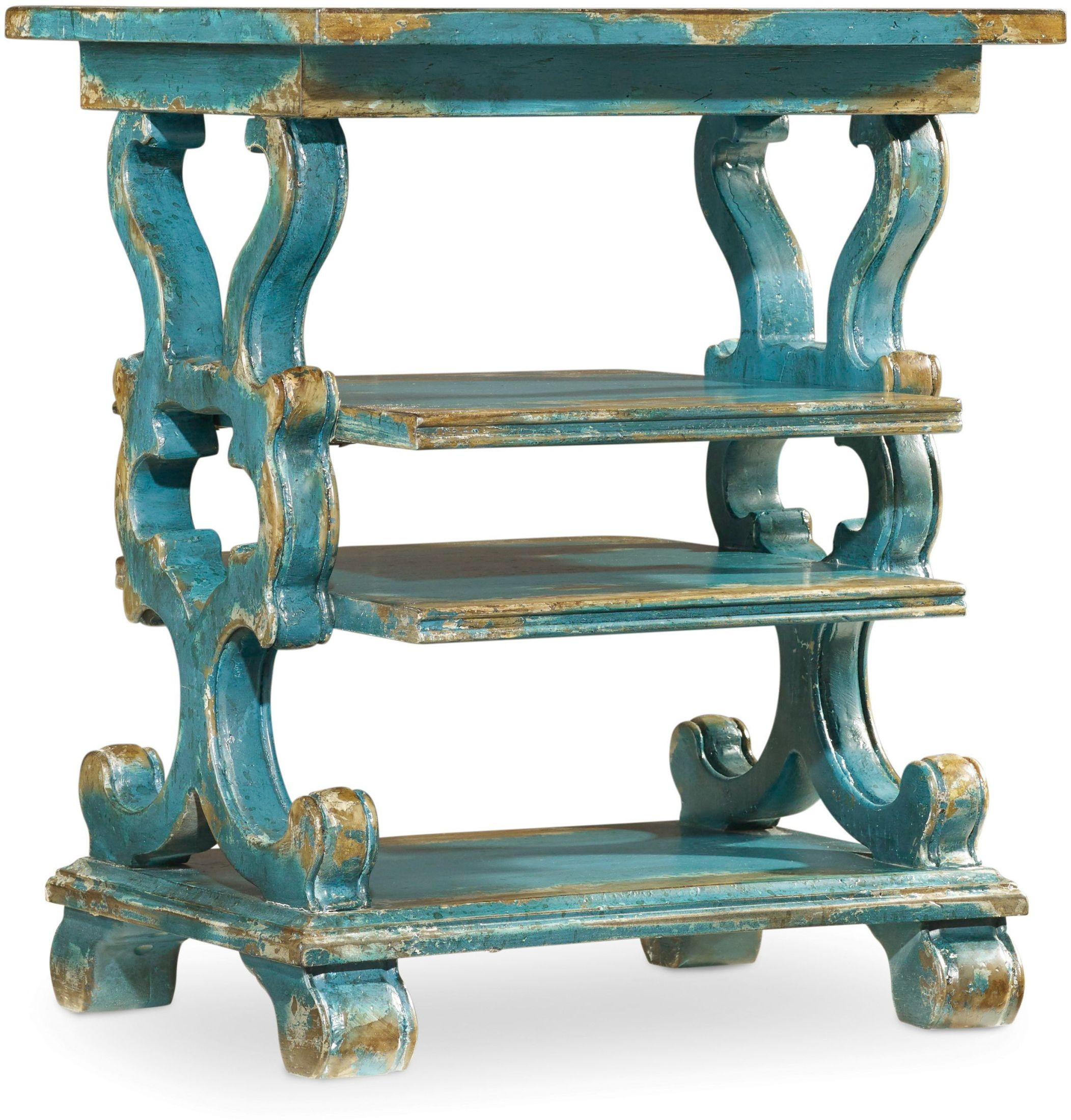 hooker sanctuary blue rectangular accent table eczhozcgforkpgkbbxjo fretwork oriental style lamps turquoise dresser hand painted tile patio outdoor furniture magazine side west