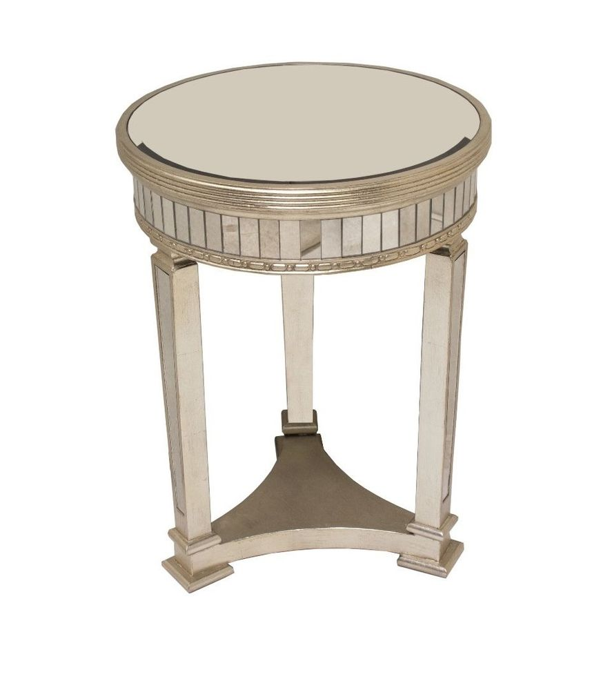 horchow gallerie borghese style champagne mirrored round accent table side silver coffee with nest tables underneath small short piece nesting contemporary wood gold end glass top