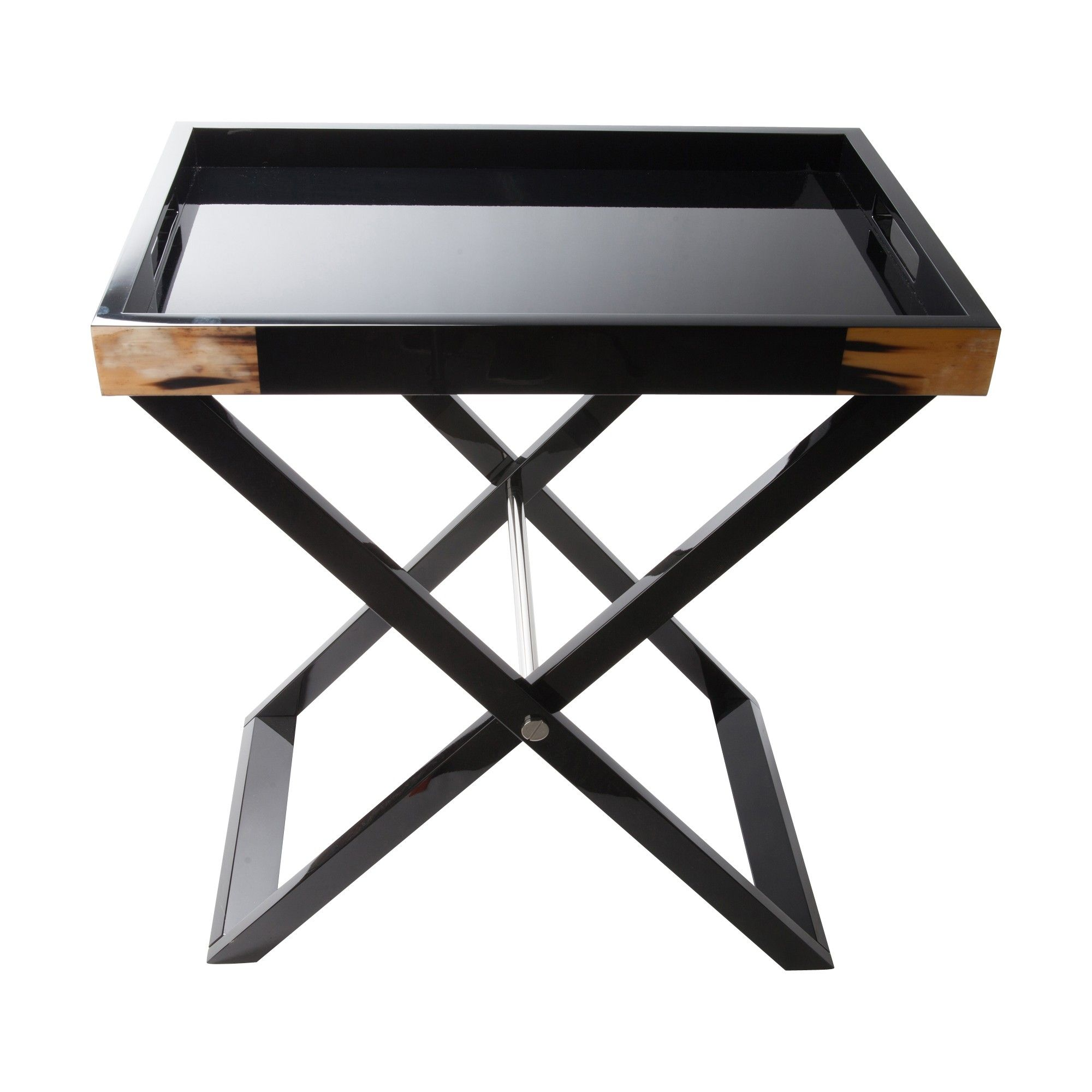 horn and black lacquer butler tray featured accent table cottages gardens kidney bean coffee retro outdoor bench clearance seaside themed lighting pottery barn living room chairs
