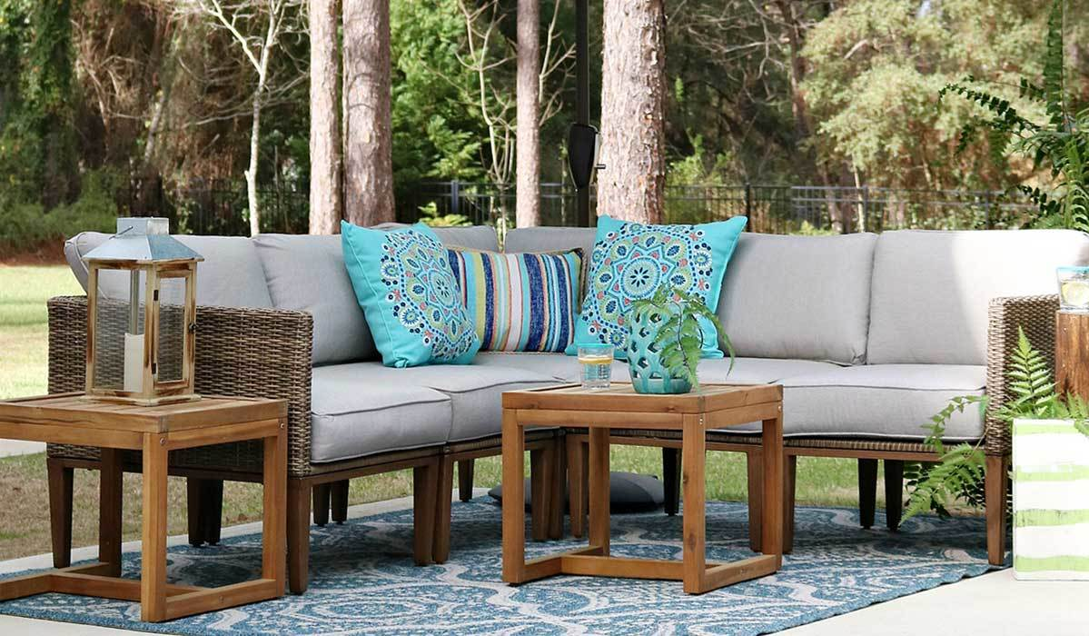 hot frog drum coffee table dark bronze accent tables spring here mix match outdoor living space ideas from better homes gardens mission style dining pine nest round mirrored side
