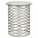 hotel furniture tables guest room lobby side tall accent table special order design eternity antique silver partner coffee console trays available hospitality marble round sofa 150x150