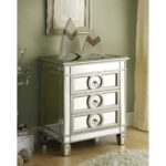 hotxpress mirrored nightstand elegant great nightstands with monarch accent table appealing storage chest cayleigh jcpenney stanwich silver versailles drawer versaille diy wood 150x150