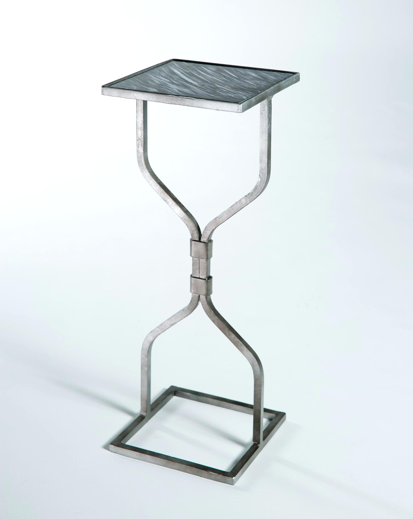 hourglass end table base chathamil info accent antique silver with glass top mythic target metal livingroom side tables inexpensive patio furniture storage rustic wood slim