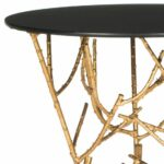 hourglass metal accent table mirror top gold homepop furniture safavieh marcie inch round threshold industrial side vintage lamp with crystal drops carpet tile edging strip dale 150x150
