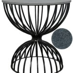 hourglass side table metal and stone accent tables patio bar furniture clearance ethan allen dining chairs lawn chair cushions outdoor protector cover best your focus runner free 150x150