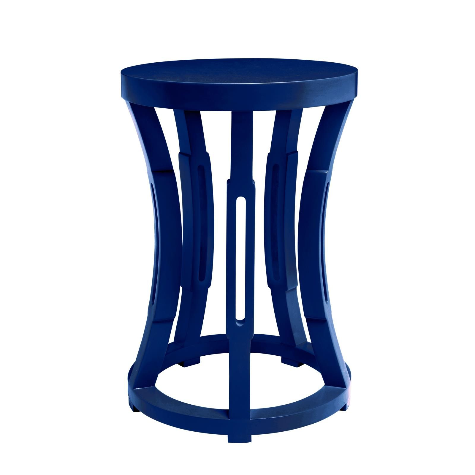 hourglass stool side table navy blue bungalow amit palace outdoor hobby lobby patio furniture reclaimed wood round end west elm peggy nate berkus safavieh brogen accent lawn chair