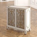 house hampton carlene traditional mirrored doors accent chest table with reviews narrow small entry couch legs side shelves turquoise home accents dale lamps gold and mirror 150x150