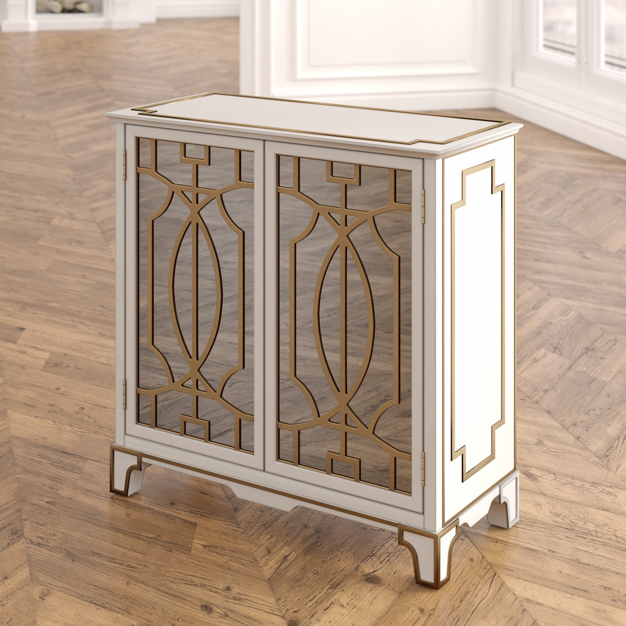 house hampton carlene traditional mirrored doors accent chest table with reviews narrow small entry couch legs side shelves turquoise home accents dale lamps gold and mirror