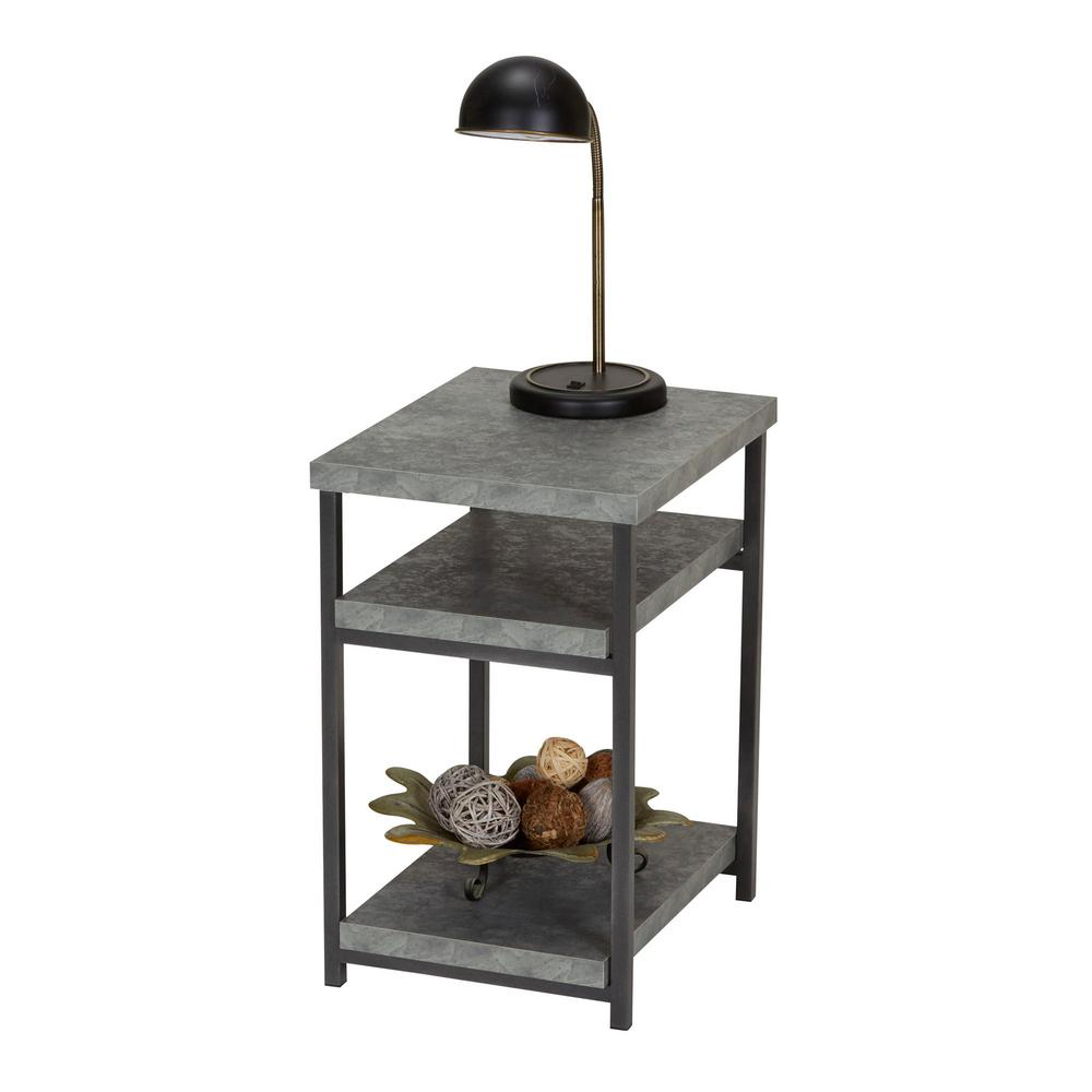 household essentials gray slate faux concrete coffee table with tables room stacking accent storage shelf inch square tablecloth runner decorative trunks bedside end tiny round