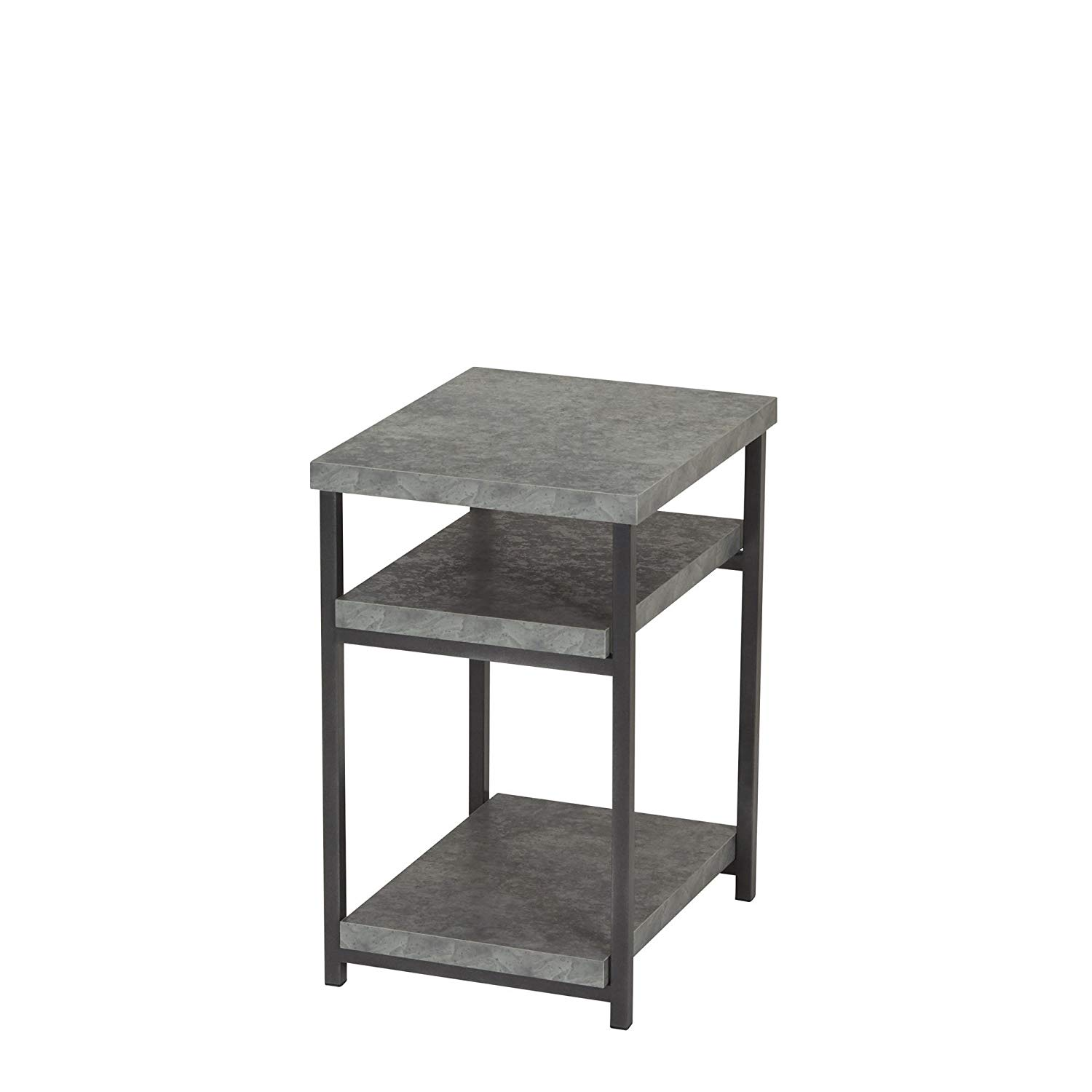 household essentials side table end with room stacking accent shelf for storage faux slate concrete kitchen dining design plans round tablecloths coffee runner large chairs target