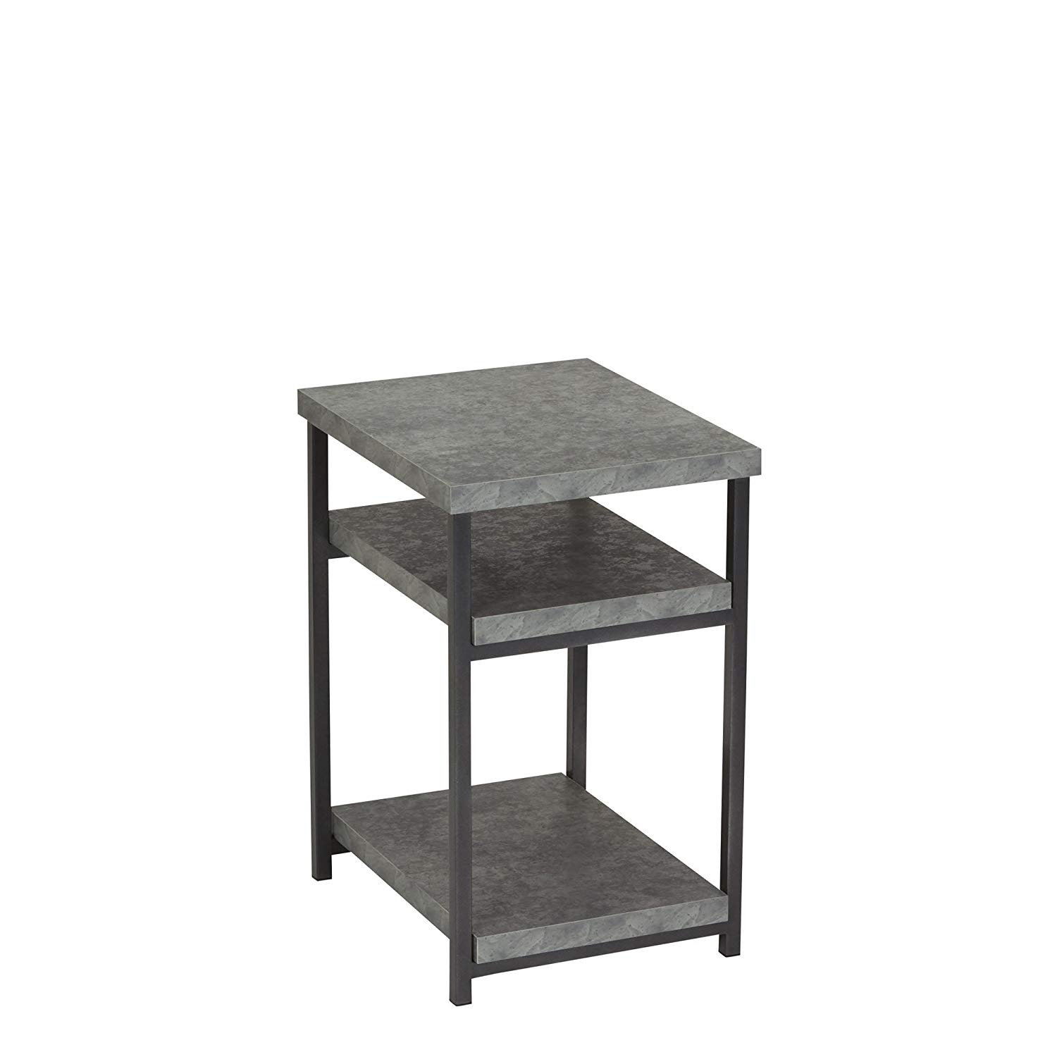 household essentials side table end with room stacking accent shelf for storage faux slate concrete kitchen dining floor edging best home decor ping websites large ginger jar