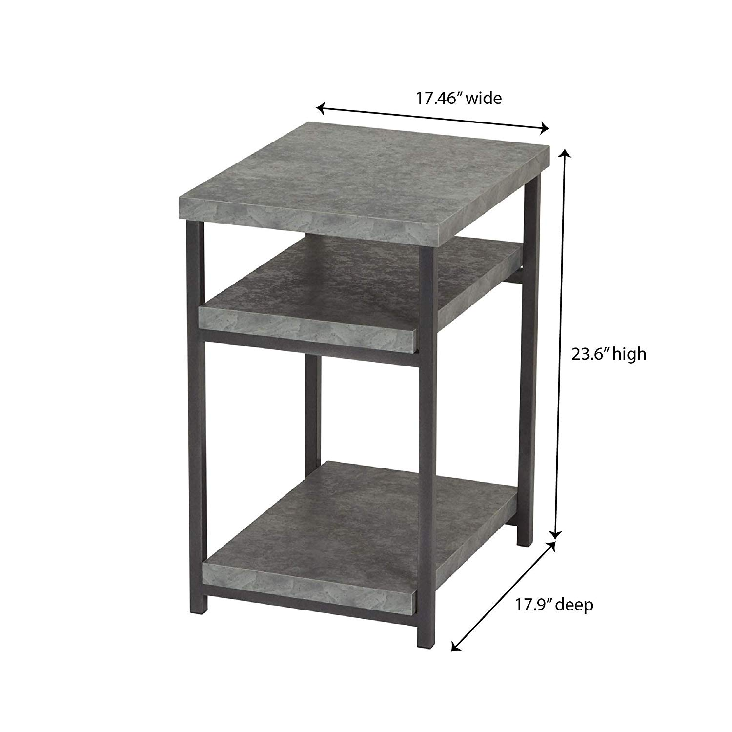household essentials side table end with room stacking accent shelf for storage faux slate concrete kitchen dining patio furniture mississauga pier one imports clearance tipton