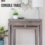 how build diy ballard designs inspired console table anikas life main accent wooden patio with umbrella hole office lighting black wicker furniture ikea storage units baskets 150x150