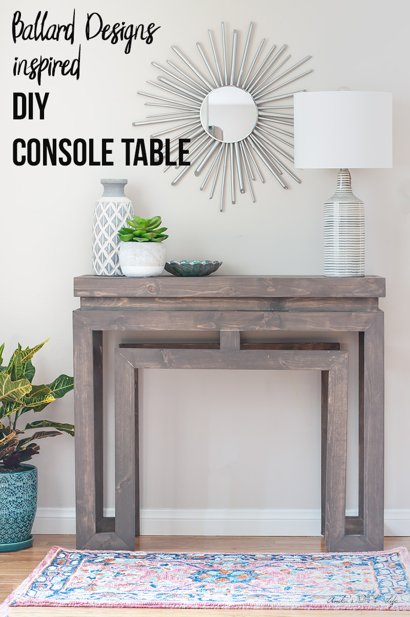 how build diy ballard designs inspired console table anikas life main accent wooden patio with umbrella hole office lighting black wicker furniture ikea storage units baskets