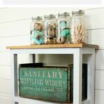 how build farmhouse accent table diy projects and craft ideas narrow white easy perfect piece furniture for spaces like powder room small entryway target threshold teal decorative 150x150