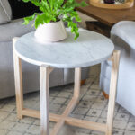 how build round faux marble side table diy accent mahogany nest tables kidney coffee hampton bay furniture website small kitchen and chairs battery run lamps oval outdoor asian 150x150