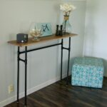 how build rustic table using galvanized pipes diy simple console from small thin accent kitchen sets with bench zara cast aluminum patio furniture stained glass lamp winter runner 150x150