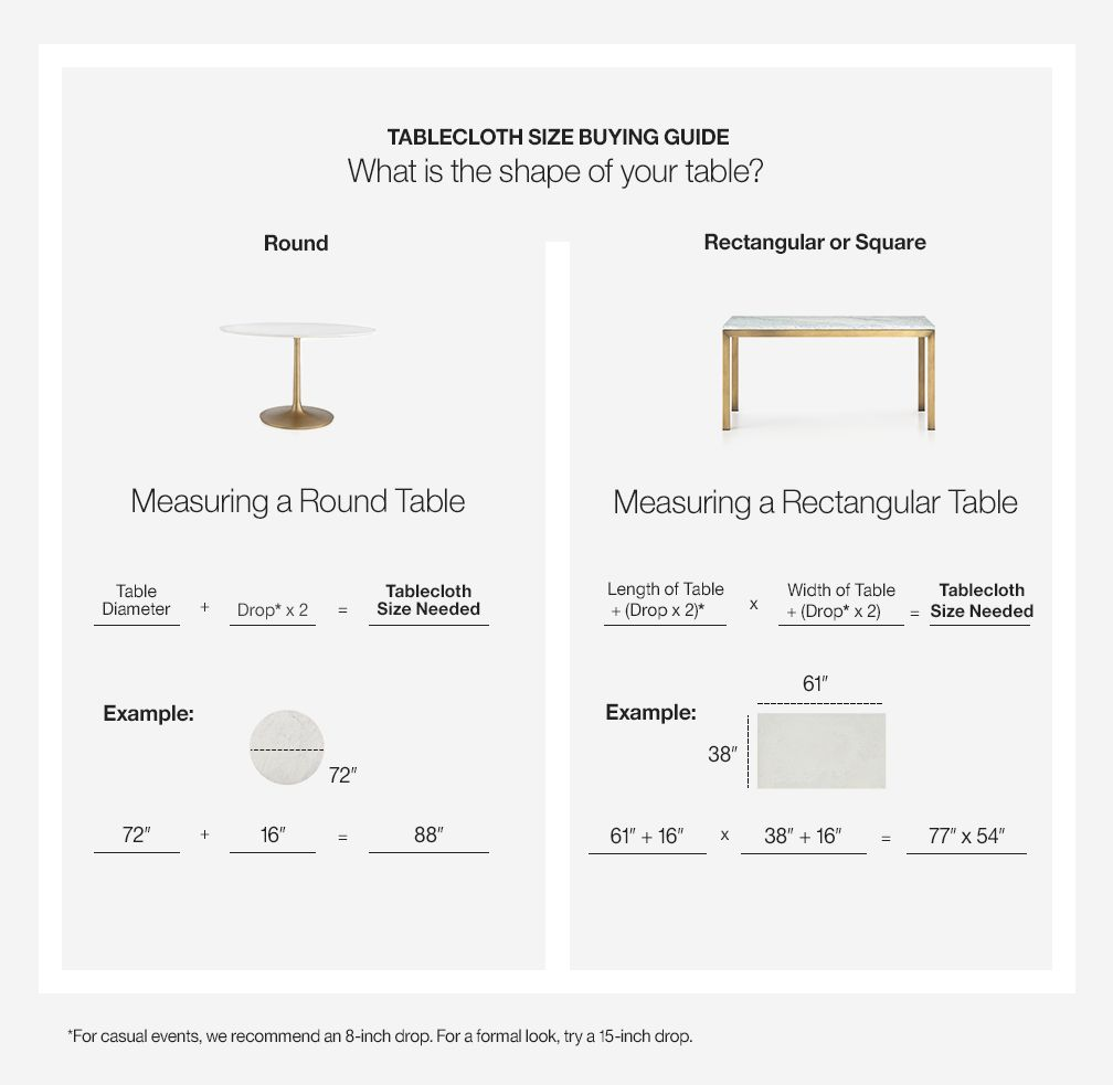 how choose tablecloth size crate and barrel ing accent table blue ceramic stool better homes gardens patio furniture stands gathering height freya round koncept lighting alton