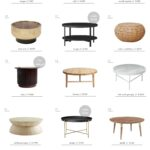 how coffee table for every space emily henderson tables roundup round small half circle accent best curved modern with drawer wood target white metal chairs black canvas patio 150x150