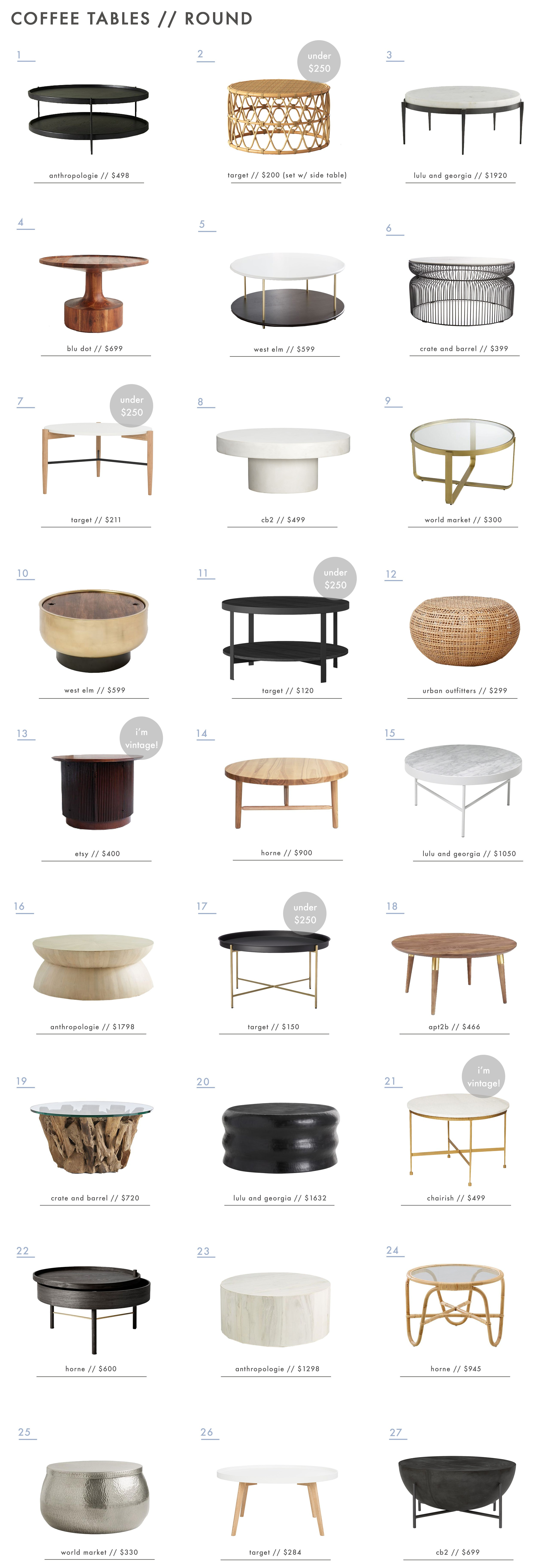 how coffee table for every space emily henderson tables roundup round small half circle accent best curved modern with drawer wood target white metal chairs black canvas patio