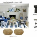 how coordinate coffee accent tables like designer maria blue living mixed material table killam trestle bench legs club chair black metal end pottery barn round marble and chrome 150x150
