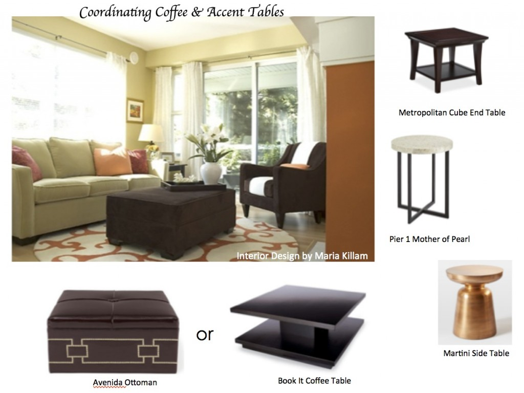 how coordinate coffee accent tables like designer maria orange living pottery barn table lamps killam gold coloured outdoor conversation sets italian dining ethan allen sofas home