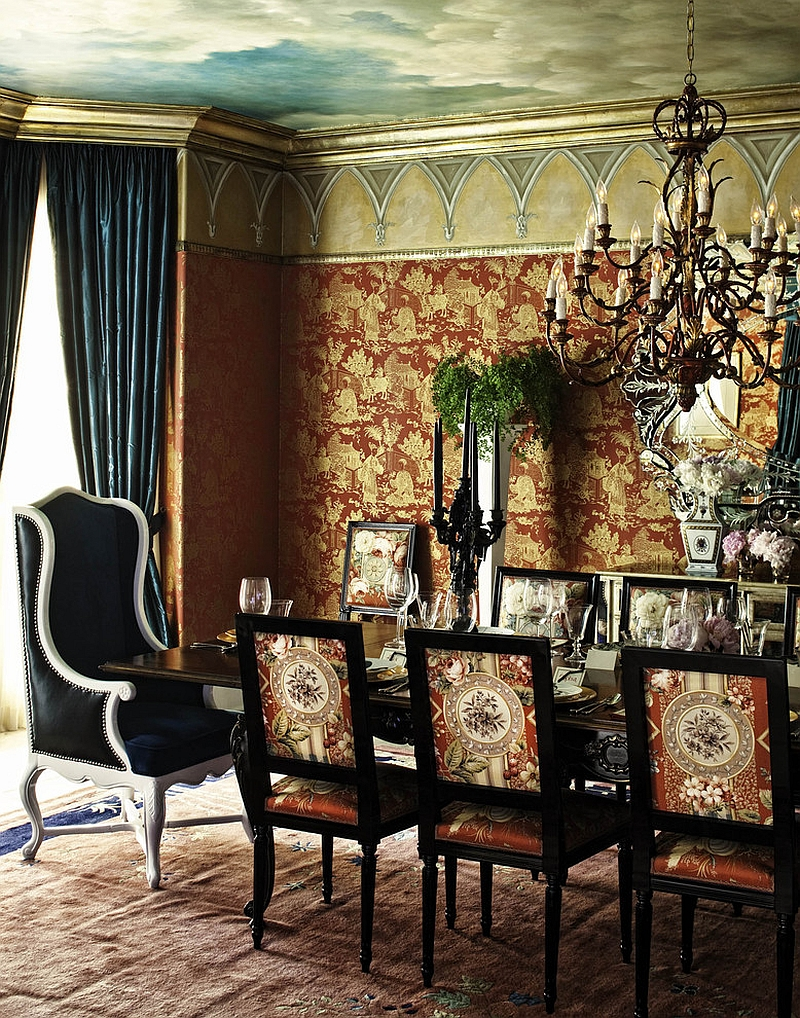 how create sensational dining room with red panache dramatic turquoise and yellow gold accent table design woodson rummerfield house antique black coffee foot sofa decorative