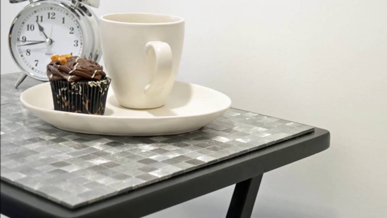 how make cool mosaic side table under minute smart accent indoor mosaics circular entry small corner for hallway grey coffee pottery barn couch linen napkins asian lamp shade with
